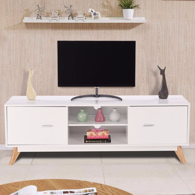 Modern TV Stand with 2 Shelves