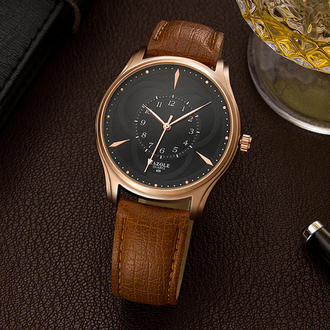 Men's Luxury Waterproof Leather Quartz Watch