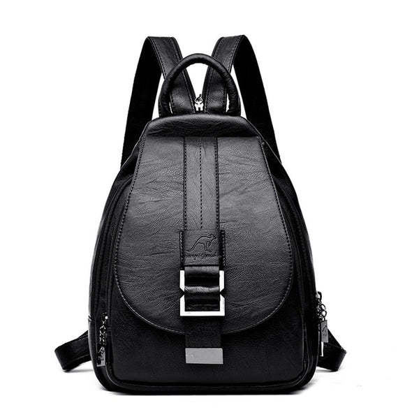 Winter Women Leather Backpacks Shoulder Bag Backpack Travel Backpack  School Bags - Bestgoodshop