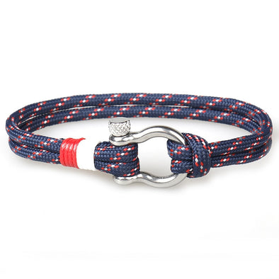 Survival Bracelet With Stainless Steel Buckle