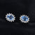 Charm Sky Blue Topaz Silver Stud Earrings