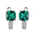 Luxury Green Emerald Clip Silver Earrings