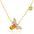 Queen Bee Citrine and Peridot Necklace