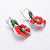 Desirée Royal Flower Enamel Silver Earrings