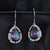 Luxury Mystic Topaz Silver Dangle Earrings