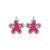 Luxury Red Ruby Clip On Sterling Silver Earrings