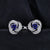 Luxury Sapphire Sterling Silver Earrings