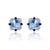 Luxury Sky Blue Topaz 2ct and Sapphire Stud Earrings