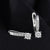 Luxury Zircon Silver Clip Earrings