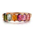 Rose Gold Plated Multi-Color Tourmaline Ring
