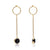 The Oval Long Drop Earrings