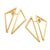 Triangle Double Sided Earrings