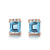 Luxury Stud Earrings with Blue Topaz