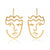 Artsy Allure Face Earrings