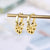 Play With US 18K Gold Plated Silver Earring
