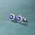 1.00ct Natural Sapphires and Diamonds 18K Gold Stud Earrings