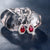 Gorgeous 18KT White Gold Ruby Earrings