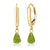 Victorian Cut Peridot Gold Drop Earrings