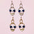 Retro Exaggerated Face Drop Earrings and Necklace