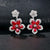White Gold 2.82ct Ruby & Diamond Flower Earrings