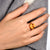 7.51ct Square Cushion Citrine 14k Gold Ring