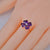 Heart Cut 3ct Amethyst & Diamond Gold Ring