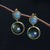 Sterling Silver Labradorite and Mysterious Moonlight Stone Earrings