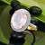 8.51ct Oval Pink Quartz & Round Cut Diamonds 14k Gold Ring