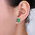 Real Emerald and Diamond Gold Stud Earrings
