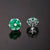 Luxurious Emerald and Diamond Stud Earrings (MADE TO ORDER)