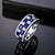 Exquisite Sapphire & Diamond 14KT White Gold Band Ring