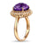 Gorgeous 6.85ct Amethyst & Diamonds Gold Ring