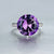 Gorgeous 7 Carat Purple Amethyst & Diamonds Ring