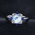 Luxury Sky Blue Topaz and Sapphire Ring Sterling Silver Ring