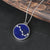 Handmade Lapis Lazuli Great Bear Constellation Pendant
