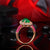 Charming Emerald, Diamonds & Pink Sapphires Ring