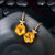 Magnificent Flower Shape 15.81ct Citrine & Diamonds Earrings