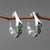 Creative Pea Pods Aventurine Sterling Silver Earrings