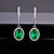 Gorgeous 2 Carat Emerald and Diamonds White Gold Earrings