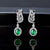 Gorgeous White Gold Emerald Earrings