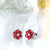 2.08ct Natural Ruby & Diamond White Gold Stud Earrings