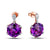 Rose Gold 8.4ct Purple Amethyst & Diamond Earrings