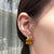 Large Citrine Gold Earrings