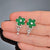 Emeralds and Diamonds Flower Drop Earrings