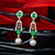 Gorgeous Emerald & Pearl Earrings Adorned with Diamonds
