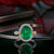 Gorgeous 4 Carat Emerald and Diamonds 18KT Gold Ring