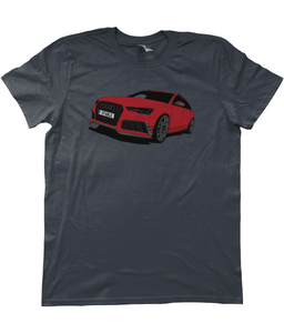 Unisex T-Shirt | Red Audi RS6+ (Front)