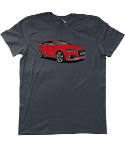 Unisex T-Shirt | Red Audi RS3 (Front)