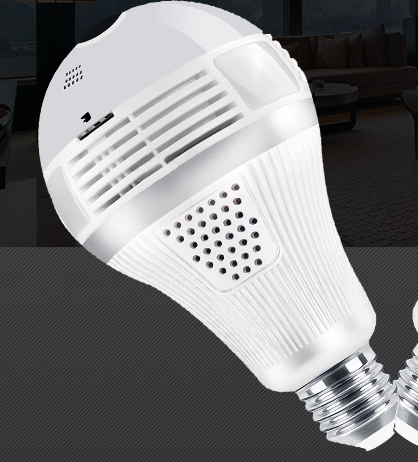 LED Light Bulb Spy Camera
