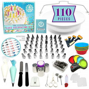 110 or 170 Cake Non-slip Turntable Decorating Tool Set